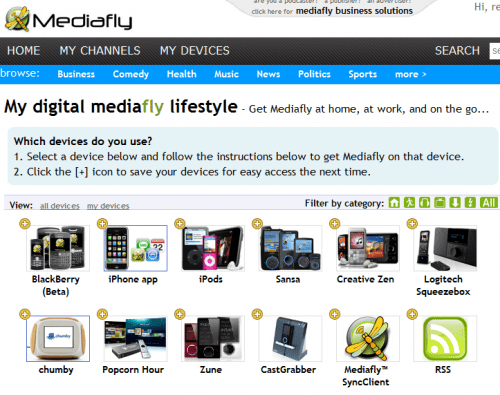 Mediafly for BlackBerry Review  Mediafly for BlackBerry Review