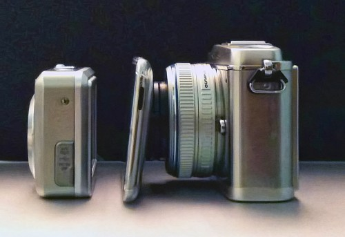 Olympus E-P1 Size Side