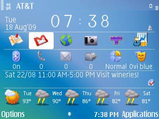 Handy Shell'd main screen