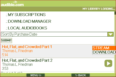 Audible BlackBerry App Review  Audible BlackBerry App Review  Audible BlackBerry App Review