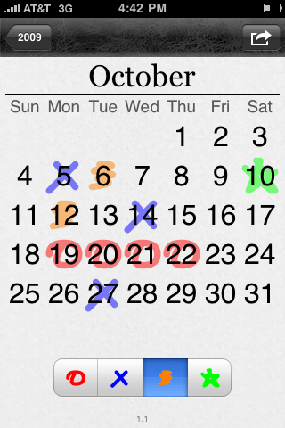 Years month view