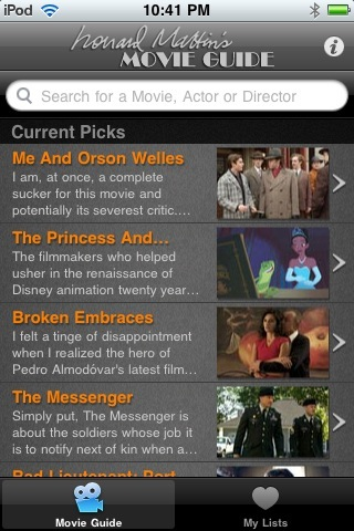 The Leonard Maltin Movie Guide iPhone App Review