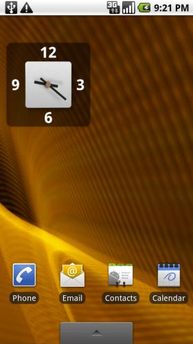 Motorola Droid home screen 3