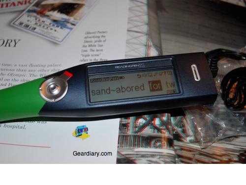readingpen ts scanned wizcom