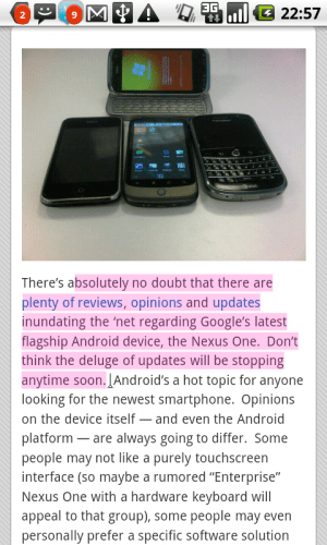 Android Tip: Selecting Text to Copy and Paste Without a Keyboard