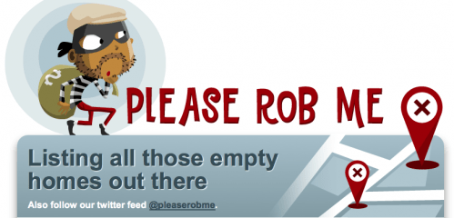 GearDiary Please Rob Me; the Perfect Compliment to Foursquare and Twitter