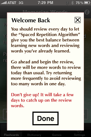 Review: Memorize Words for Spanish for iPhone