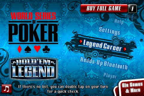 World Series of Poker Hold'em Legend Free for iPhone/Touch App Review