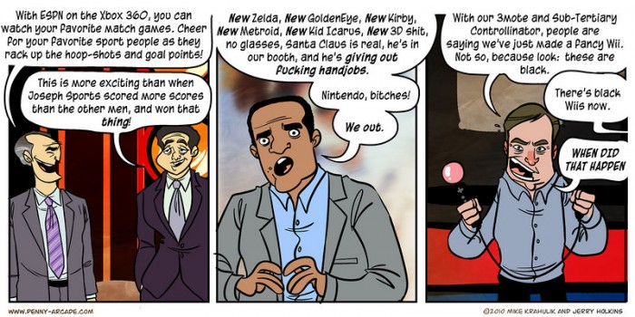 Penny Arcade Sums Up E3 In Three Panels