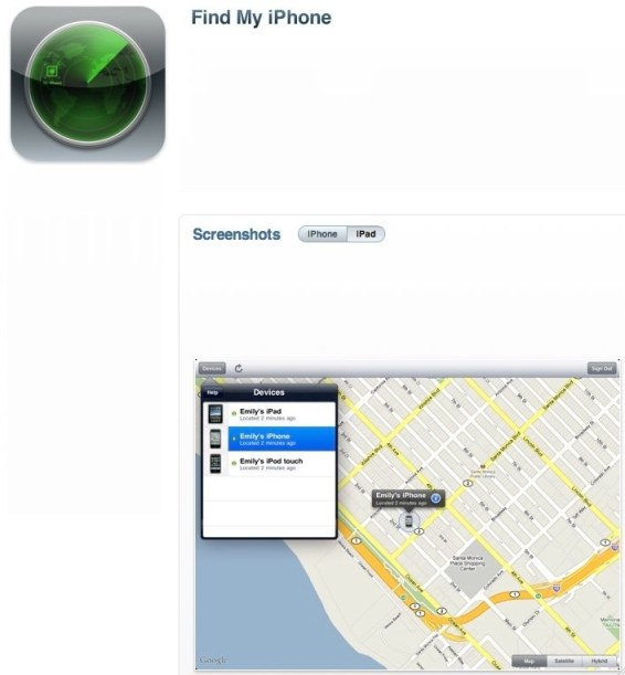 You Can Run but You Can't Hide- Find My iPhone, An iPhone App Quick Look