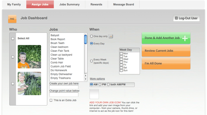 MyJobChart Web Site Review:  A Fun Way To Track Kids' Chores  MyJobChart Web Site Review:  A Fun Way To Track Kids' Chores  MyJobChart Web Site Review:  A Fun Way To Track Kids' Chores  MyJobChart Web Site Review:  A Fun Way To Track Kids' Chores