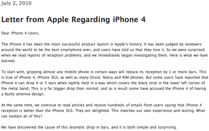 Apple's Statement On iPhone 4 Reception Issues Translated...