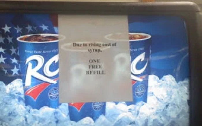 The End of Free Soda Refills?