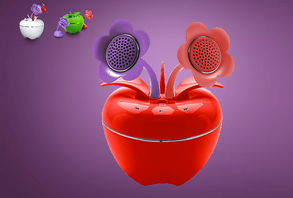 GearDiary Speakal's New iPom Brings Apples, Flowers and Speakers Together In A Unique Package
