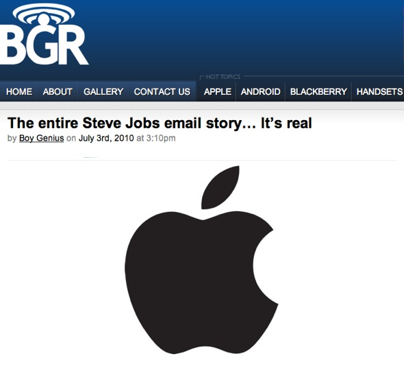 GearDiary Email, iPhones and Steve Jobs: a Cautionary Tale