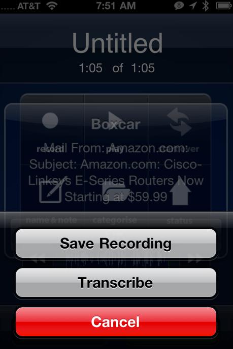 D2u Transcriber iPhone App Review