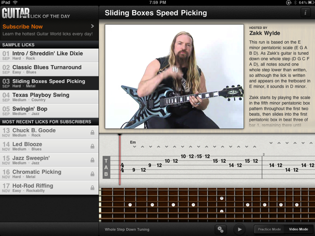 Guitar World Lick of the Day for iPhone/Touch/iPad Review  Guitar World Lick of the Day for iPhone/Touch/iPad Review  Guitar World Lick of the Day for iPhone/Touch/iPad Review  Guitar World Lick of the Day for iPhone/Touch/iPad Review