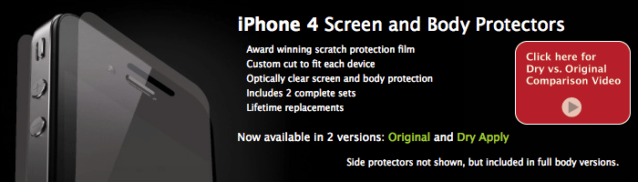 Review:  BodyGuardz Dry Apply Protector For iPhone 4