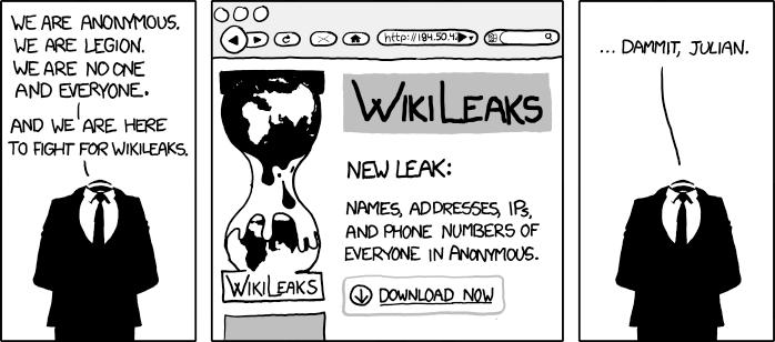 Random Cool Image: XKCD on WikiLeaks
