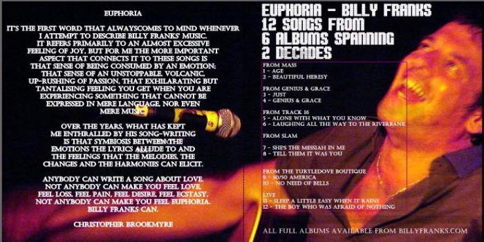 Music Diary Quickie: Billy Franks - Euphoria