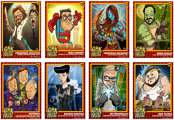 """Your Favorite Geek May Be a """"Geeks of the Week"""" Trading Card"""