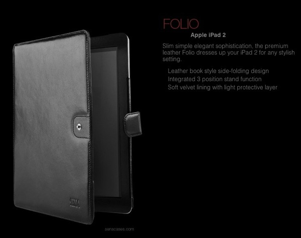 Sena's Lineup of iPad 2 Cases Offers Great Style and Protection in Gorgeous Leather