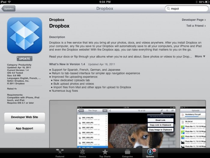 DropBox Updated with Cool New Features!