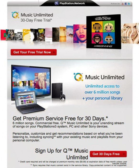 Review: Sony's Qriocity 'Music Unlimited' Streaming Service