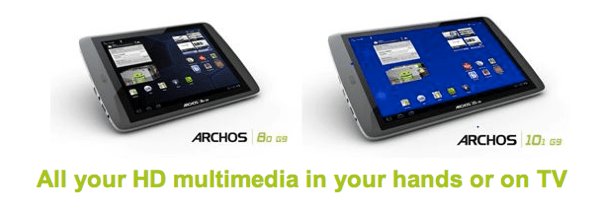 ARCHOS Unveils Fastest Tablets with G9 Tablet Range