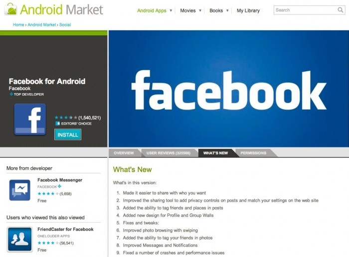 Facebook for Android Updates Brings Return to Tablets!
