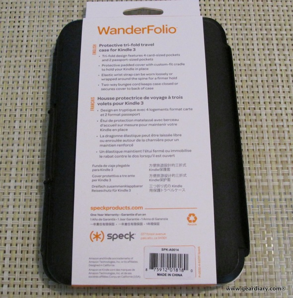 Kindle Case Review: WanderFolio for Kindle 3