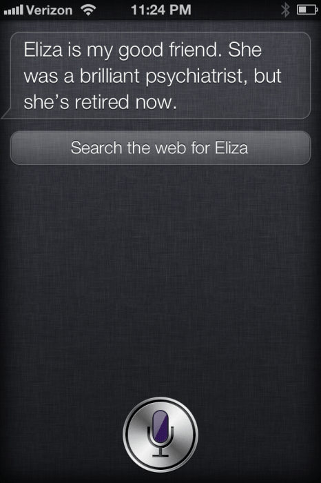 "Siri's Predecessor, and ""Good Friend"""