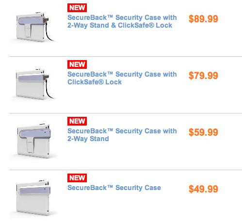 SecureBack™ Security Cases for iPad 2 Security Kensington 1