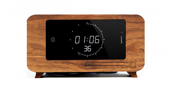 Cdock Turns Your iPhone into a Fab Table or Bedside Clock  Cdock Turns Your iPhone into a Fab Table or Bedside Clock