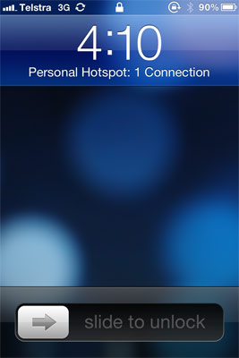 WiFi Sync your iPhone and iPad using Personal Hotspot