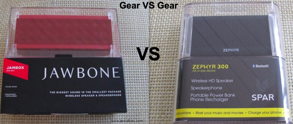 Gear VS Gear: The JawBone JamBox Faces Off Against the Spar Zephyr 300