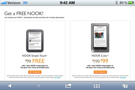 Barnes And Noble Offers Free And Reduced NOOKS With Subscriptions!