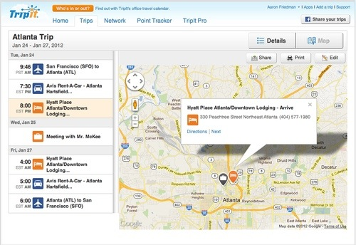 """GearDiary TripIt gets """"iPadified"""" with New """"On-Map"""" Interactions and Planning"""