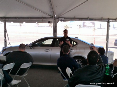 At the Las Vegas Speedway with a 2013 Lexus GS 350 F Sport and an LFA