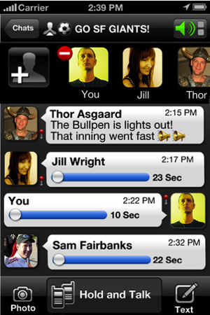 Voxer Walkie-Talkie PTT For iPhone/Touch