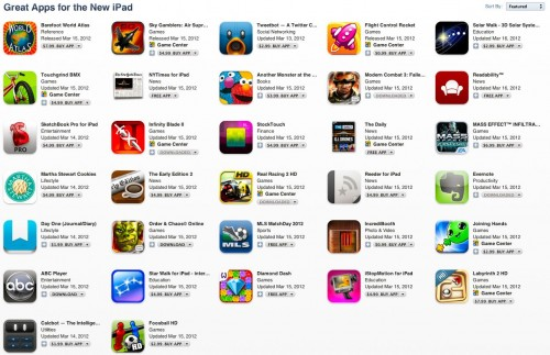 Don't Worry ... There are PLENTY of New iPad Specific Apps Available!