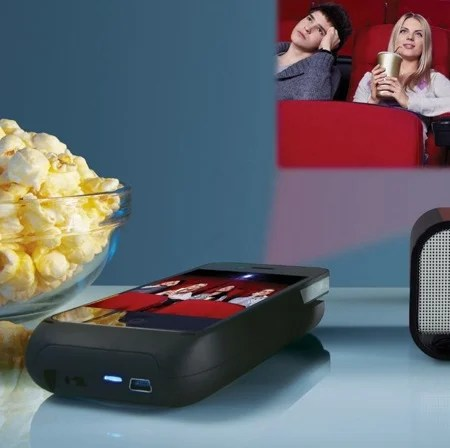 Pocket Projector for iPhone 4 Devices at Brookstone Buy Now