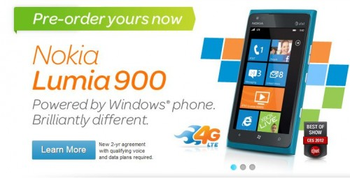 Nokia Lumia 900 Now Available for Pre-Order from AT&T