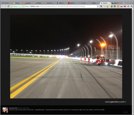 To Tweet or Not to Tweet: Is it Safe for Drivers to Tweet from the Track