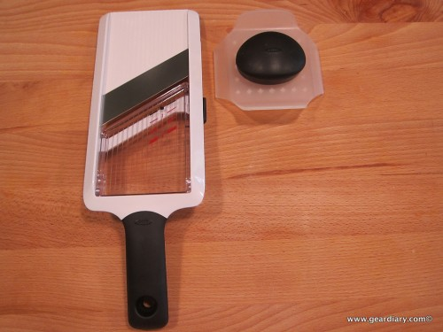 OXO GoodGrips Handheld Mandoline is a Finger Saver