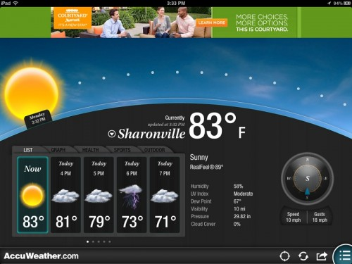 AccuWeather App for iPad Updated to Version 2.0 - Now with Customizable Themes!