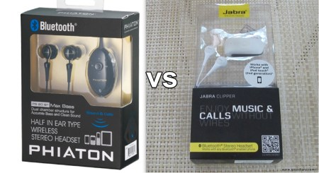 Gear-vs-Gear, the Phiaton PS 20 BT vs the Jabra Clipper, Bluetooth Headset Head-to-Head