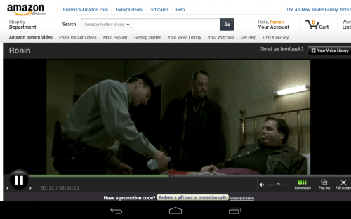 How to get Amazon Prime Streaming Media and Flash Content to Play on your Nexus 7