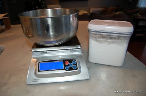 Scale and flour