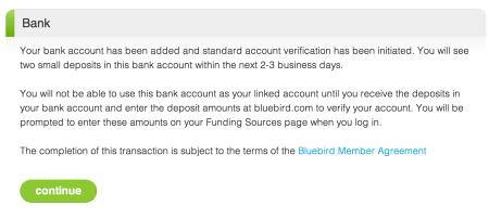 Adding Money to Your Bluebird Account Directly from Your Bank Account